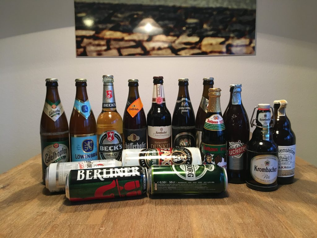 Our collection of beers. Part of them made it back to Brno